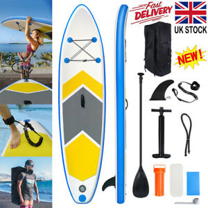 10FT 305CM Inflatable SUP Stand Up Paddle Board Sports Surf Water Racing Pump