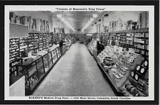 Eckerd's Modern Drug Store inside view Columbia South Carolina SC postcard