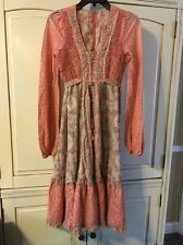 Vintage 1970'S Bobo Hippie Jody T California Dress Farm Rustic Womens Size 11