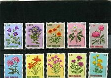 SAN MARINO 1971 Sc#758-767 FLORA FLOWERS SET OF 10 STAMPS MNH