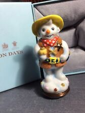 Halcyon Days Cowboy Snowman Bonbonniere Mint In Box