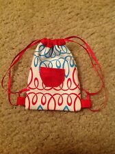 "Red/Blue Backpack/Bag for Wellie Wishers Wisher American Girl 14"" doll clothes"