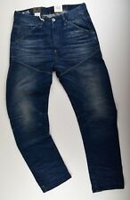 G-star Raw Elwood 5620 3D ajustado vaqueros W33 L32 azul DK envejecido