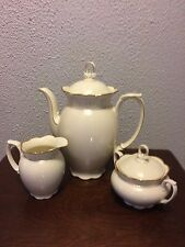 Waldershof Bavaria Germany Tea Set- Coffee/Teapot,sugar/creamer gold rim china