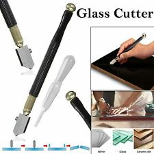 Diamond Tip Antislip Metal Handle Steel Blade Oil Feed Glass Cutter Tool UK