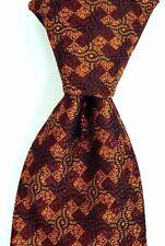 $195 NWT Robert Talbott Estate Rust w/ Woven Geo Print Jacquard Silk Neck Tie