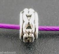 P/D: 100 Antiksilber Spacer Perlen Zwischenteil 6x3mm