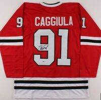 Drake Caggiula Signed Chicago Blackhawks Jersey Beckett BAS COA ONLY one on Ebay