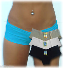 3 sexy cotton low rise boyshorts panties underwear SMALL - FREE SHIPPING TO U.S.