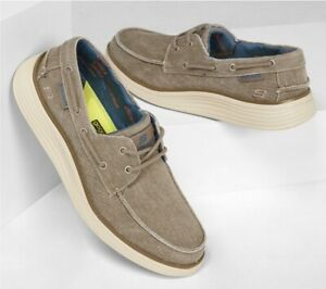 SKECHERS // Lorano // Mens Taupe Deck Boat Shoes // NEW!!!