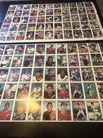 1988 Topps Baseball Uncut Sheets Of Cards