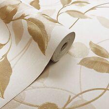 Arthouse Vintage Capriata Leaf Wallpaper Gold (290302)