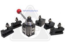 "AXA 250-100 Piston Tool Holder Tool Post Set for Lathe 6 - 12"""