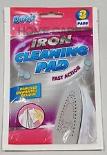 New Duzzit 3 X Fast Action Iron Cleaning Pads Removes Unwanted Residue