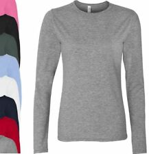 Machine Washable Long Sleeve 100% Cotton Tops for Women