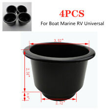 4PCS Black Boat Plastic Cup Drink Can Holder Boat Marine RV Parts Universal Kit