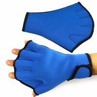 Paddle Aqua Surfing Swimming Water Frog Fingerless Webbed Glove Gloves Swim