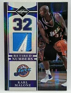 2011 Panini Limited Retired Numbers Karl Malone PATCH #17/25 Jazz
