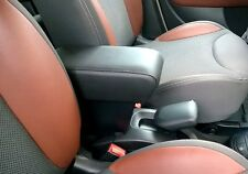 Bracciolo regolabile lunghezza per FIAT 500 L ecopelle nero- montaggio pressione