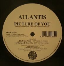"""Atlantis - Picture of You 12"""" 45RPM Vinyl Record MP130 New Meal Power Records"""