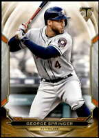 George Springer 2019 Topps Triple Threads 5x7 Gold #16 /10 Astros