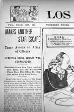 3 1902 newspapers Washington Oregon OUTLAW killer HARRY TRACY ESCAPES frm PRISON