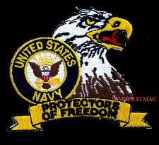 US NAVY PROTECTORS OF FREEDOM HAT PATCH EAGLE USN SAILOR VETERAN PIN UP GIFT WOW