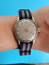 Vintage Rare Zenith WW2 military Style Watch cal 124-P Works See description