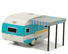 GREENLIGHT 1:64 HITCHED HOMES SERIES 1958 CATOLAC DEVILLE TRAVEL TRAILER 34010-A
