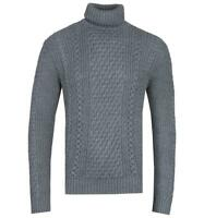 Edwin United Grey Heather Roll-Neck Sweater for Men Wool & Acrylic Blend