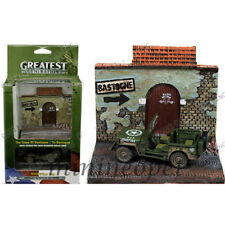JLSP023 GREATEST GENERATION WWII WILLYS JEEP & TO BASTOGNE RESIN DISPLAY 1/64