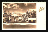 Germany Vintage Winter Mountains Picture Postcard - Z14716a