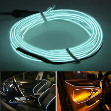Auto 6.5ft Panel Gap White Decorative Atmosphere LED Cold EL Neon Lights Strip