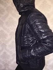 G STAR RAW New Colorado Quilted Hooded warm jacket, men size XL, navy, NWT