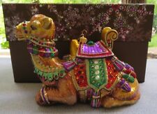 Jay Strongwater Sitting Camel Ornament Swarovski Elements New In Box