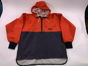 Grunden's Brigg Hooded Jacket Red Navy Size Small Waterproof Coat Fishing Work