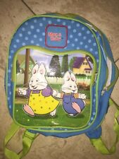 Max & Ruby Treehouse Blue and Green Child Toddler Backpack Bookbag Guc