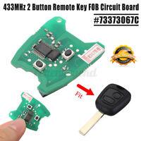 Fernschluesselfob Transponder Chip Leiterplatte 433MHz Für Peugeot 307 73373067C