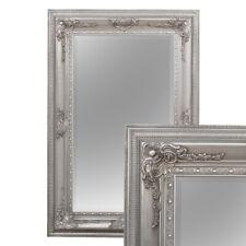 barock Wandspiegel Eve 115x85cm Spiegel antik Silber Pompös Holzrahmen Facette