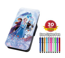 FROZEN II Elsa & Anne Characters Flip Phone Case Cover for iPhone Samsung Huawei
