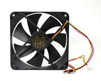 10pc DC Fan D12SH-12 12x12x2.5cm 12V 0.30A 3-wires UL TUV CE 2200rpm 88cfm 40dBA