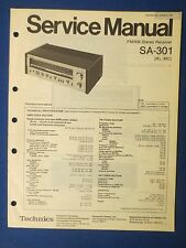 TECHNICS SA-301 RECEIVER SERVICE MANUAL ORIGINAL FACTORY ISSUE THE REAL THING