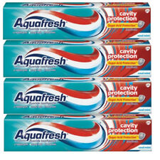 4 Pack - AquaFresh Cool Mint Toothpaste Cavity Protection 5.6 Oz Each