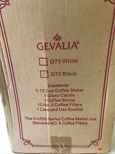GEVALIA KAFFE G70 Black 12-Cup Programmable CM500 Automatic Coffee Maker.