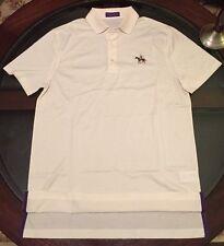 Ralph Lauren Purple Label Polo Shirt Equestrian Cream Sz Medium Made In Italy