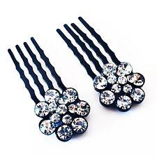USA Mini Hair Comb Rhinestone Crystal hairpin Clip Wedding Bridal Clear  02