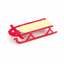 "Miniature Red Toy Sled for Dollhouse Crafts Christmas / Winter 1/24 .62"" x 1.87"""