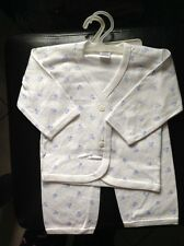 Adorable Blue Floral Baby Boy Play Outfit or PJ Set Size 0 - 3 months Clothes