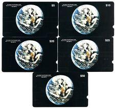 USA 1987 Plessey $5, $10, $20, $25 & $50 mint GPT - Magnetic 500 sets exist.