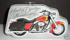 Harley Davidson Motorcycle Shaped Coin or Money Tin Bank 2005 American Greetings
